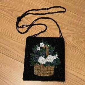 ERMO fully beaded crossbody purse